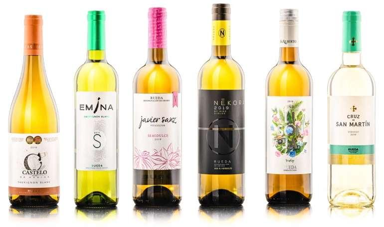 Wine-Selection: Rueda Probierkiste mit 6 spanischen, trockenen Weißweinen für 34,99€ inkl. Versand