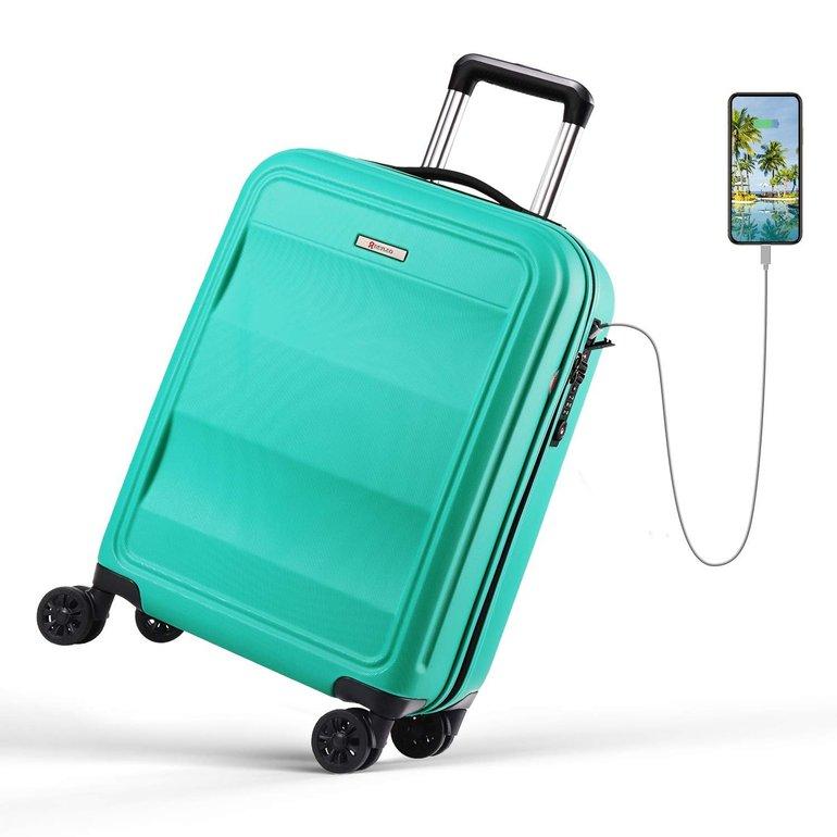Reyleo 54cm Trolley mit 8 Rollen, Schloss und USB-Kabel für 60,79€ inkl. Versand