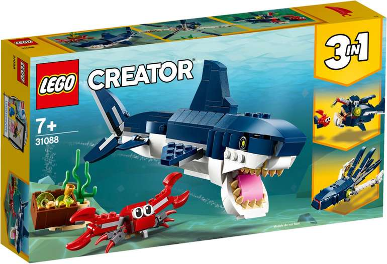 Lego Creator 3-in-1 Bewohner der Tiefsee (31088) für 8,18€ inkl. Prime Versand (statt 15€)