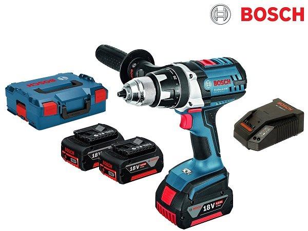 Bosch GSR 18 VE-2-LI 18-V-Akku-Bohrschrauber mit 3 Akkus & L-BOXX für 265,90€