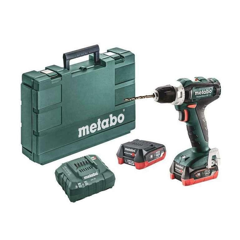 Metabo BS 12 Akku-Bohrschrauber 12V Powermaxx + 2x 4,0 Ah Li Ion Akkus im Koffer für 99€ (statt 150€)