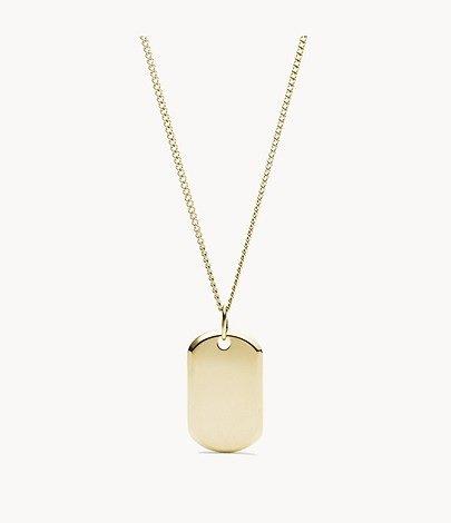Fossil Damen Halskette Gold Stainless Steel mit Pendant für 14,96€ inkl. Versand (statt 22€)