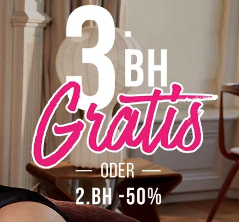 Bra-Party bei Hunkemöller - 3. BH Gratis oder 2. BH mit 50% Rabatt