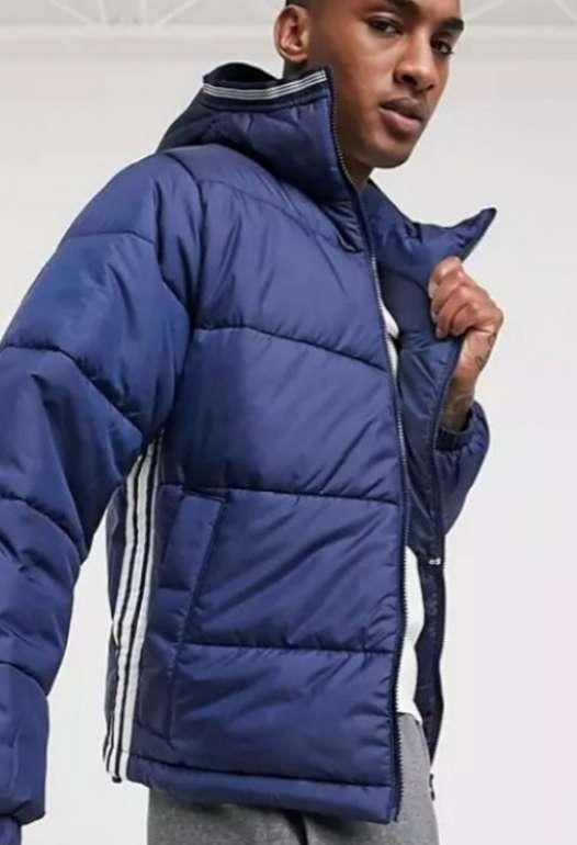 adidas Originals Wattierte Herren Jacke mit drei Streifen in Marineblau für 48,36€inkl. Versand (statt 59€)