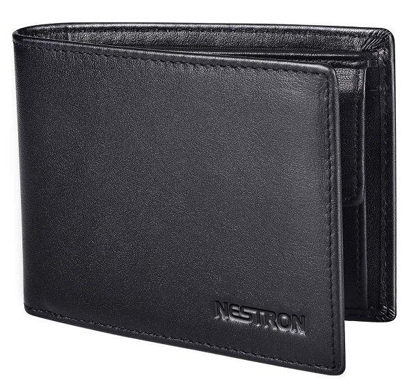 Nestron Geldbörse aus Nappa Leder mit RFID-Schutz für 13,76€ (Prime)