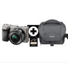 Sony Alpha 6000 Systemkamera mit SEL-P1650 Objektiv, Tasche, 16GB SD für 466€