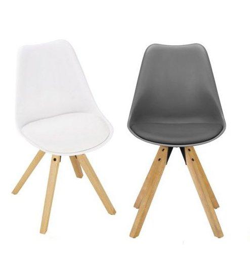 Stuhl Ricky mit Holzfüßen für 20,90€ inkl. Versand