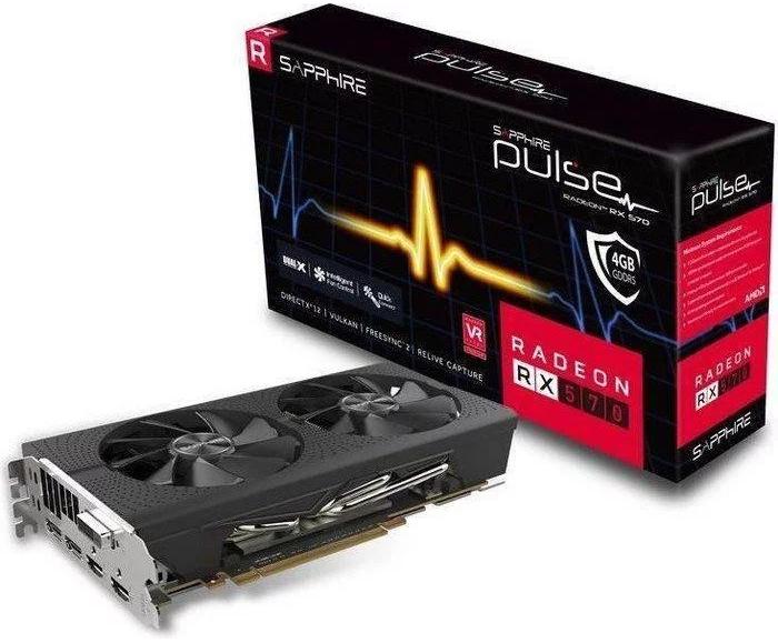 Sapphire Radeon RX 570 PULSE 8GB OC Grafikkarte für 129,99€ (statt 141€)