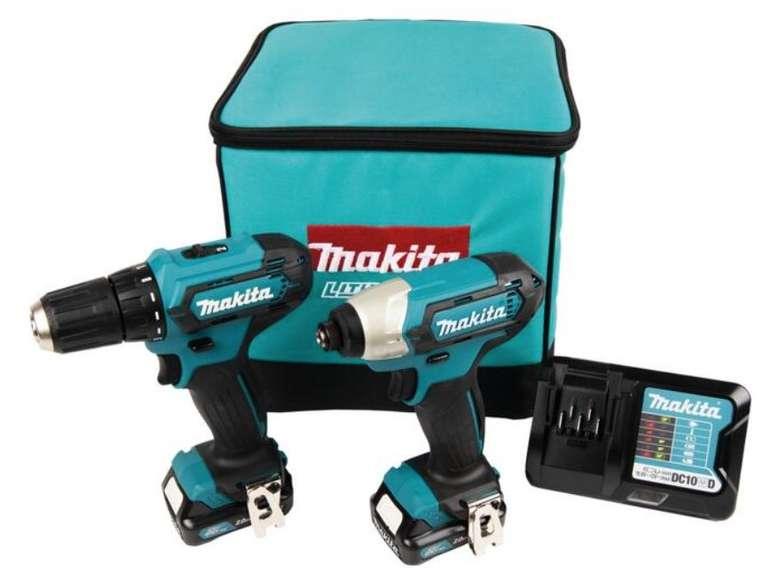 Makita Combo-Kit CLX224A: 12 V Akku-Bohr-/Schlagschrauber inkl. 2 Akkus für 107,99€ (statt 179€)
