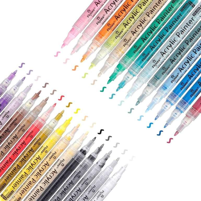 Artistore wasserfeste Acrylstifte (28 Farben, 0,7mm) für 10,91€ inkl. Prime Versand (statt 21€)