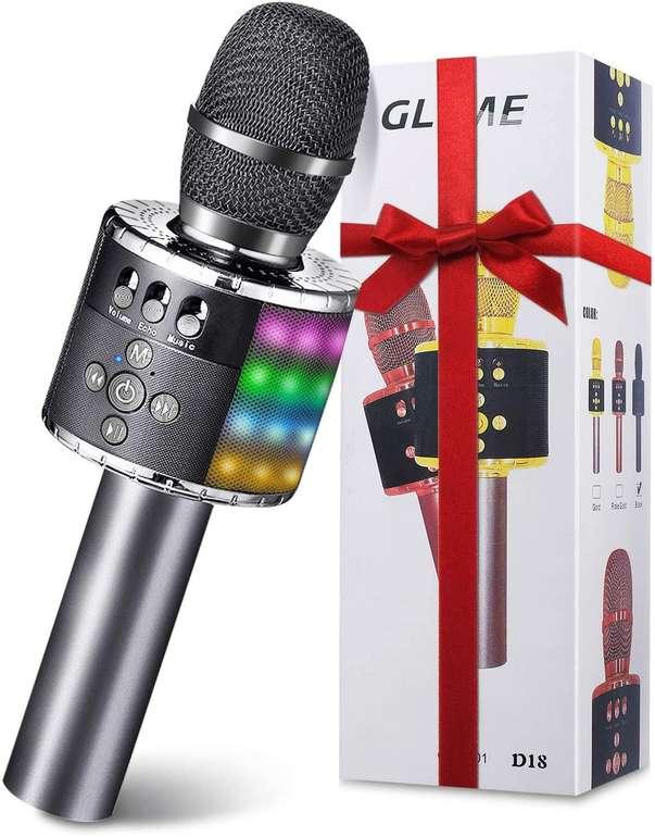 Glime Bluetooth Karaoke Mikrofon für 14,39€ inkl. Prime Versand (statt 24€)