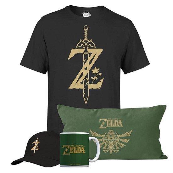 The Legend Of Zelda Ultimate Bundle (Shirt, Kissen, Tasse & Cap) für 34,48€ (statt 55€)