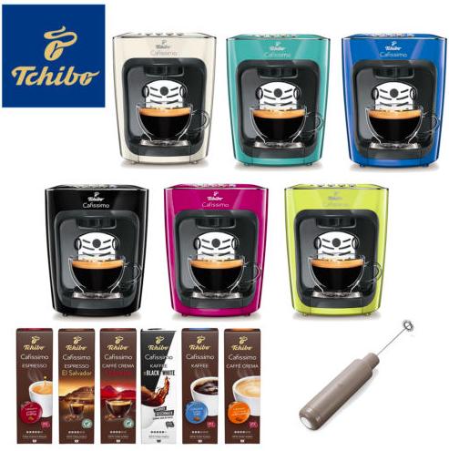 Tchibo Cafissimo mini Neon + 60 Kapseln + Handmilchaufschäumer für 35,10€