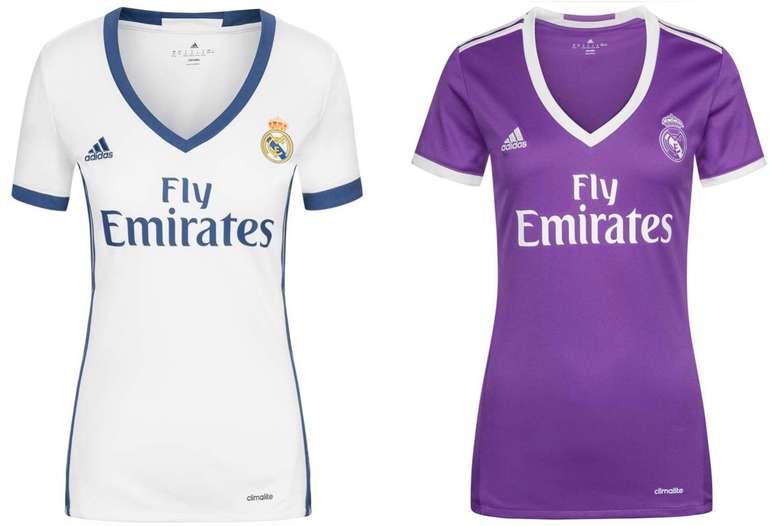 Real Madrid Adidas Damen Heim und Auswärts Trikot für je 3,33€ zzgl. 3,95€ Versand (statt 13€)