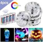Hengda - 4er Pack LED Unterwasserleuchten (RGB, Farbwechsel, Fernbedienung) für 10,49€ inkl. Versand (statt 15€)