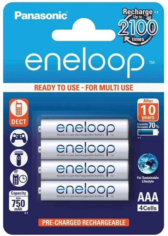 Panasonic eneloop Akkus AAA (4 Stück) für 6,01€ mit Primeversand (statt 8€)