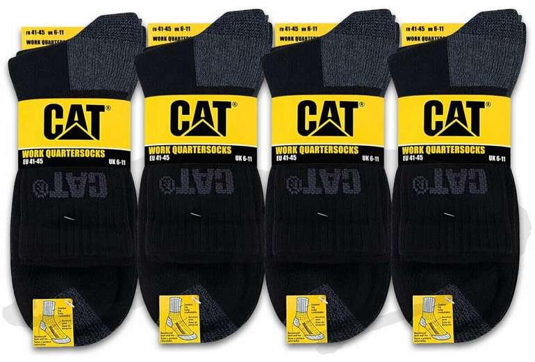 12 Paar Cat Caterpillar Quarter Arbeitssocken (Größe: 41-50) für 29,99€ inkl. Versand (statt 40€)