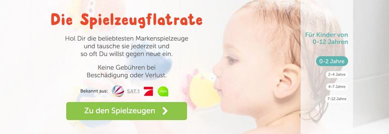 Zwei Monate Spielzeuge kostenlos ausleihen (Probeabo)