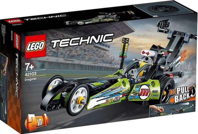 Lego Technic - 2 in 1 Dragster Rennauto (42103) für 12,99€ inkl. Prime Versand (statt 17€)