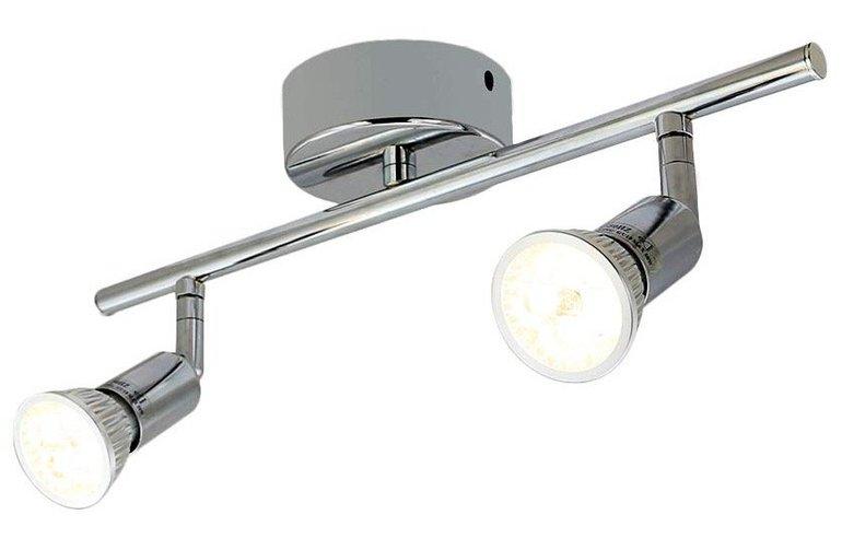 Schwenkbare Deckenlampe mit 2 LED-Spots für 9,79€ inkl. Versand (Prime)