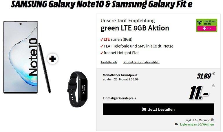 Samsung Galaxy Note 10 Fit E Telekom AllNet-Flat 8GB LTE 2