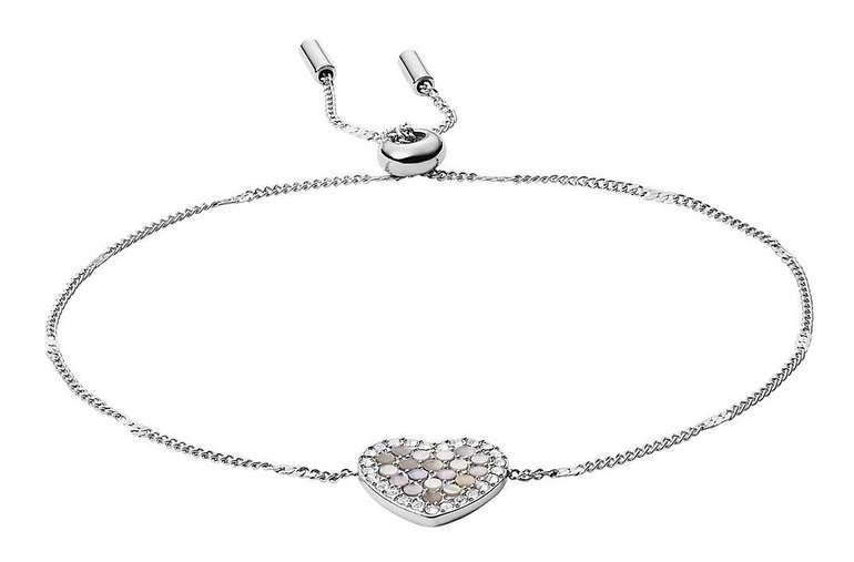 Fossil Damen Armband Mosaic Heart (JF03414040) für 23€ inkl. Versand (statt 40€)