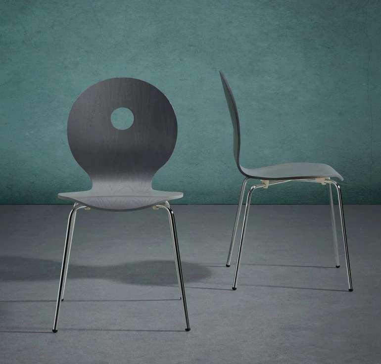 "Bessagi Home ""Nahia"" Holzstuhl in grau für 13,93€ inkl. Versand (statt 20€)"