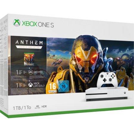 Microsoft Xbox One S 1TB Legion of Dawn Bundle mit Anthem für 179,99€ inkl. VSK