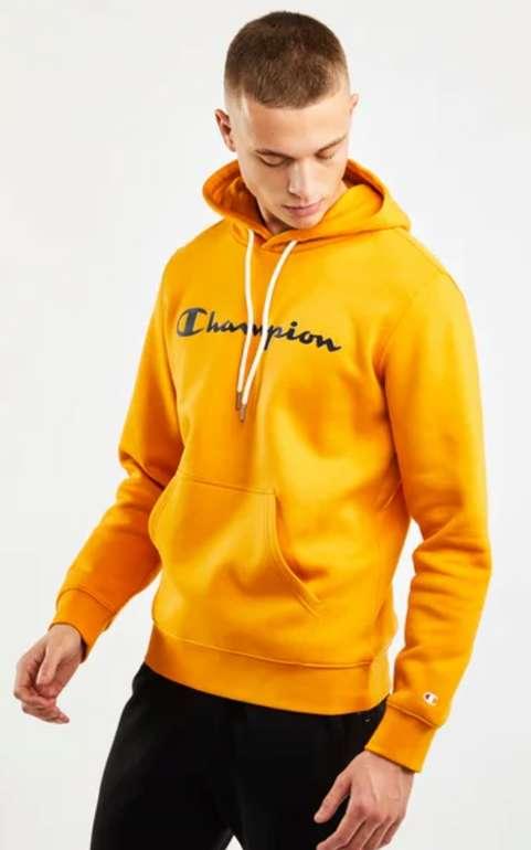 Champion Script Logo Herren Hoodie in orange für 39,99€inkl. Versand (statt 55€)