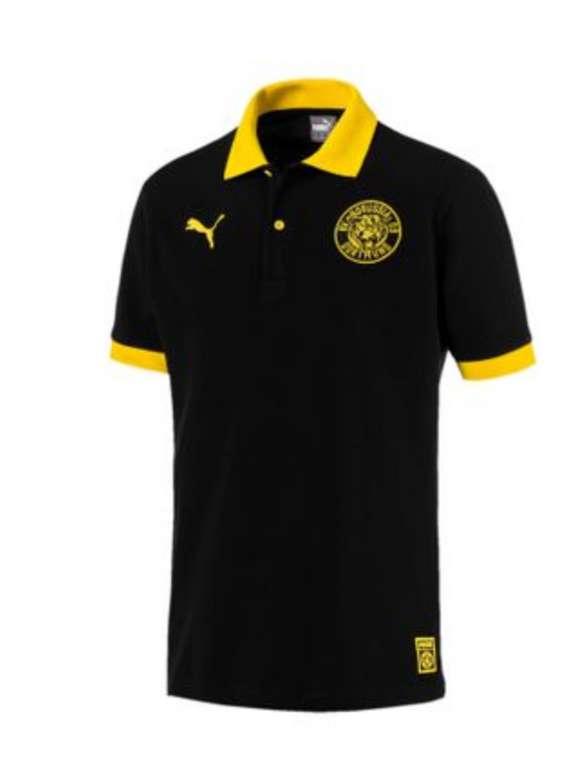 Puma BVB Borussia Dortmund - Herren Stencil Polo Poloshirt in schwarz für 14,98€ inkl. Versand (statt 30€)