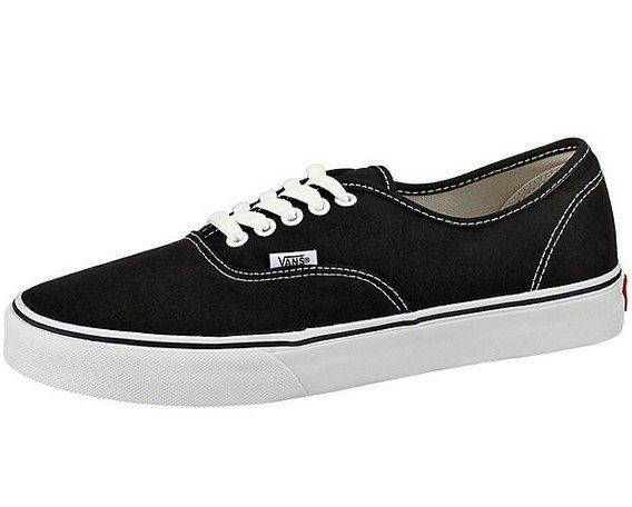 Vans Authentic Unisex Sneaker in Schwarz/ Weiß für 22,99€ inkl. Prime Versand (statt 33€)