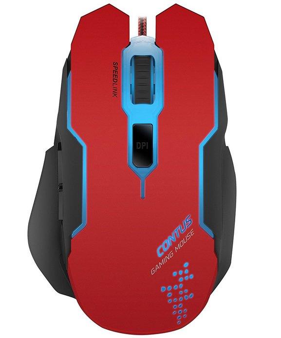Speedlink Contus - 5-Tasten Gaming Maus mit bis zu 3200dpi für 6,99€