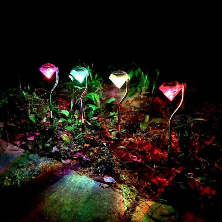 """8er Pack Solar LED Gartenleuchten """"Diamant"""" aus Edelstahl für 19,90€ inkl. Versand (statt 25€)"""