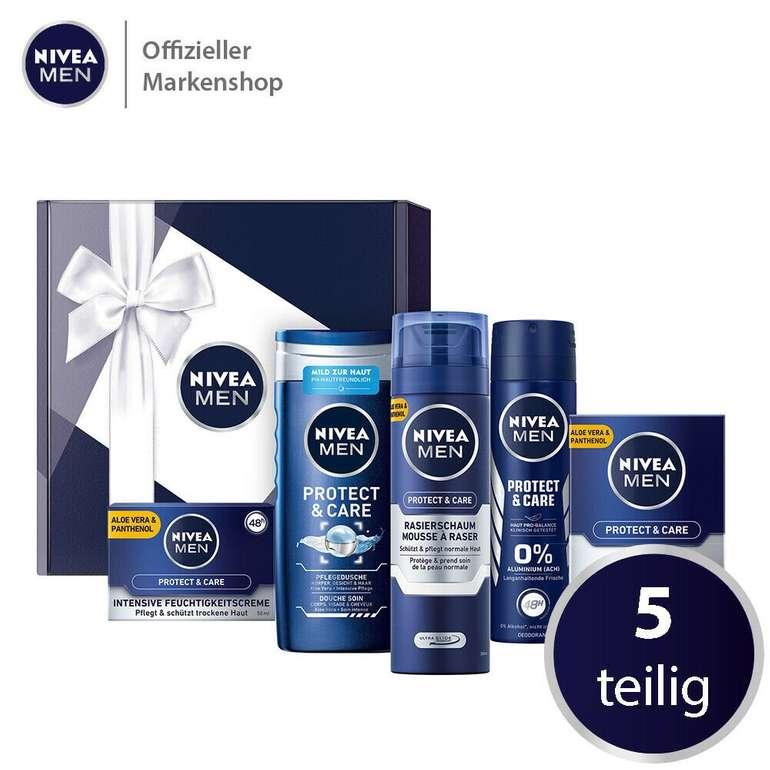 Nivea Men 5 tlg. Geschenkbox Protect & Care für 17,99€ inkl. Versand (statt 21€)