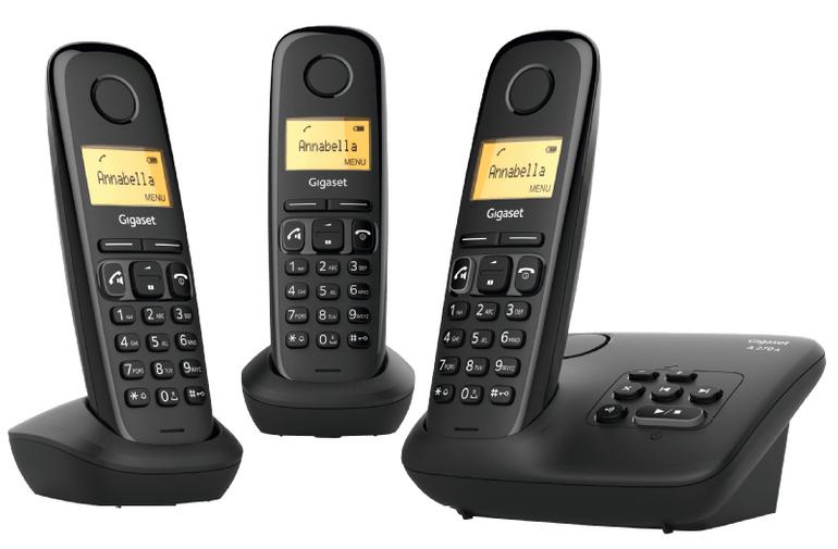 Gigaset A270A Trio, Schnurloses Telefon mit Anrufbeantworter für 39€ (statt 62€)