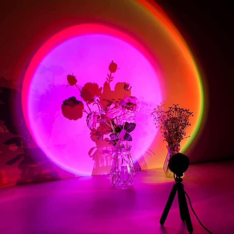 "Comokin LED Projektionslampe ""Sunset Lamp"" mit 16 Modi für 14,49€ inkl. Prime Versand (statt 29€)"