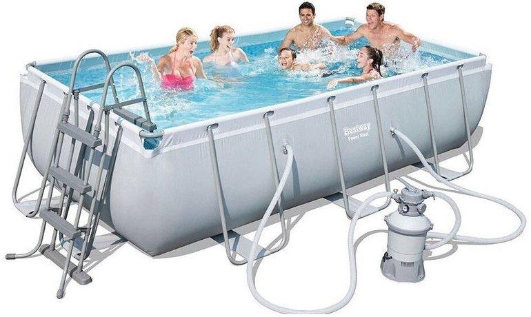 Bestway Frame Pool Power Steel Set mit Sandfilter für 320,33€ inkl. Versand