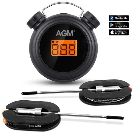 AGM kabelloses Grillthermometer mit 2 Sonden & App für 13,99€ inkl. VSK (Prime)