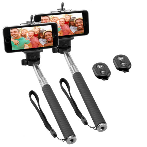 2er Pack Ninetec Picturesmart Bluetooth Selfie Stick für 7,77€ inkl. Versand