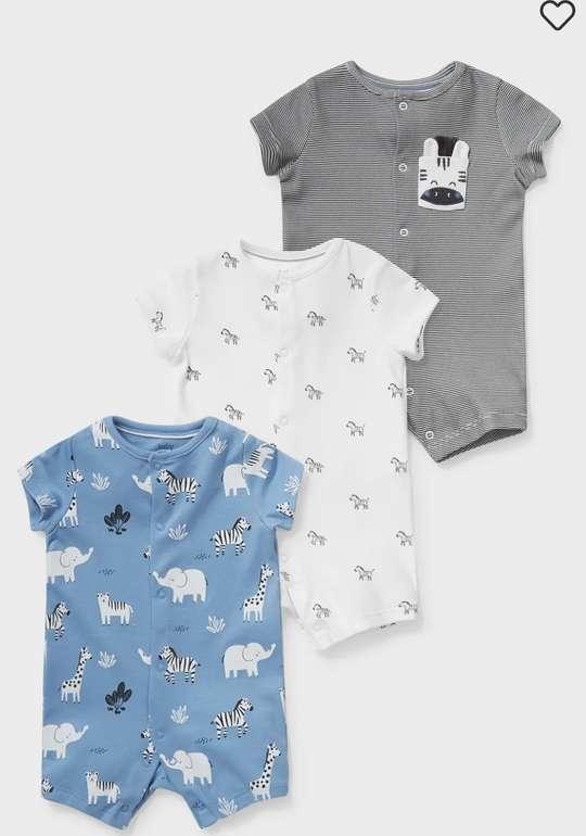 C&A Baby-Schlafanzug aus Bio-Baumwolle im 3er Pack für 13,99€ inkl. Versand (statt 23€)