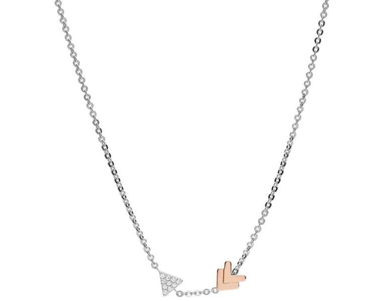 Fossil Damen Halskette Sterling Silver Arrow (JFS00428998) für 16,80€ inkl. Versand (statt 37€)