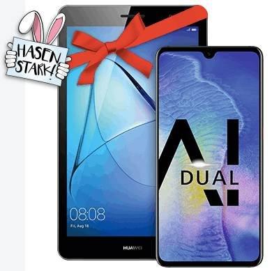 Oster Offer: 10GB LTE Allnet Flat + Huawei Mate 20 + MediaPad T3 für 29,99€ mtl.