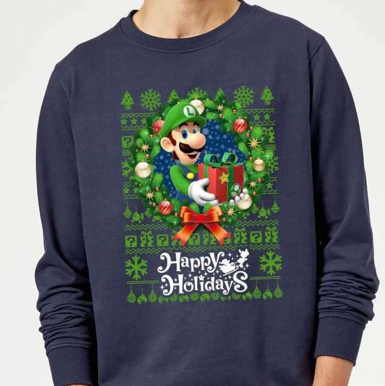 Nintendo Weihnachtspullover (The Legend of Zelda, Super Mario Bros etc.) für je 19,99€ inkl. Versand (statt 32€)