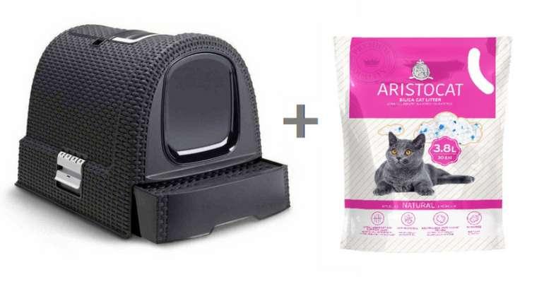 Preisfehler: Curver Katzentoilette in Grau + Aristocat Silikatstreu für 8,50€inkl. Versand (statt 35€)