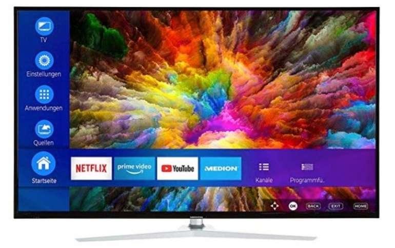 Medion Life X15049 – 50 Zoll 4K Ultra-HD Smart-TV mit Dolby Vision, DTS und HDR für 299,95€