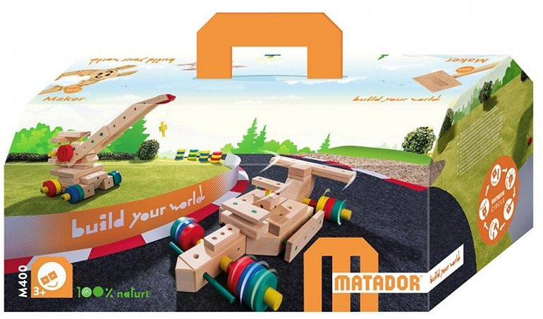 Matador Maker M400 - Holzbaukasten mit 93 Modelideen für 94,90€ (statt 138€)