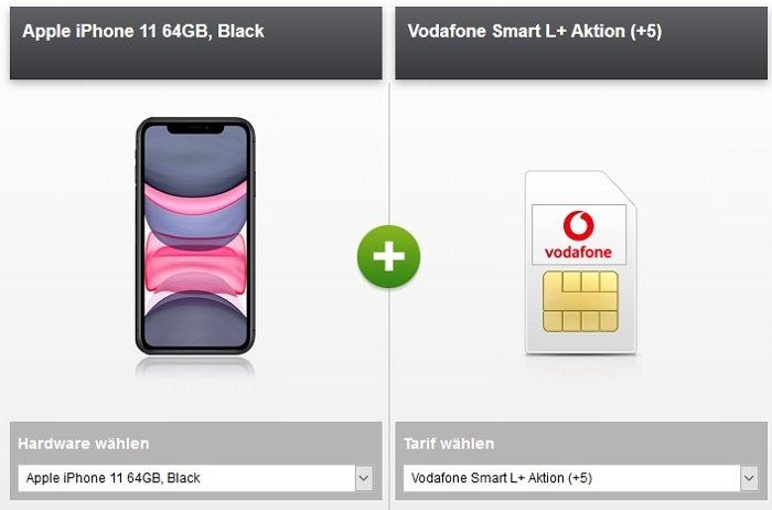Apple iPhone 11 inkl. Vodafone Smart L+ mit 10GB LTE