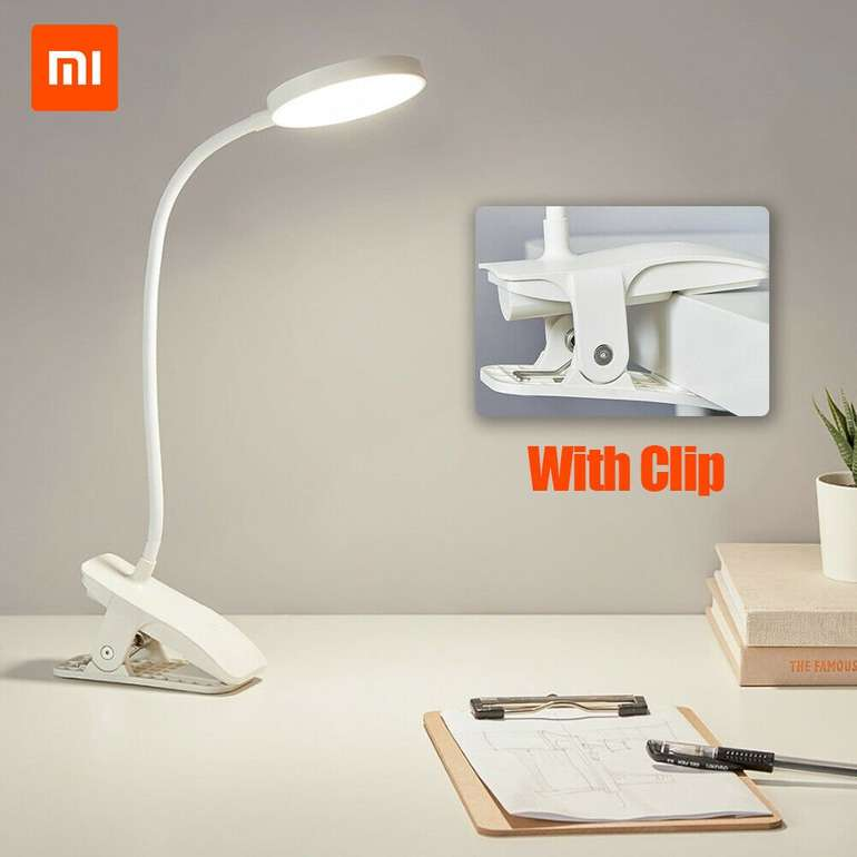 Xiaomi Youpin Akku-Schreibtischlampe mit Clip-Befestigung für 15,39€