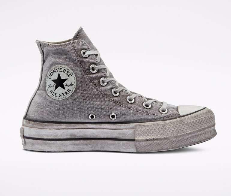 Converse mit 30% Rabatt auf Smoke-Style Sneaker, z.B. Chuck Taylor All Star Platform High Top für 84€