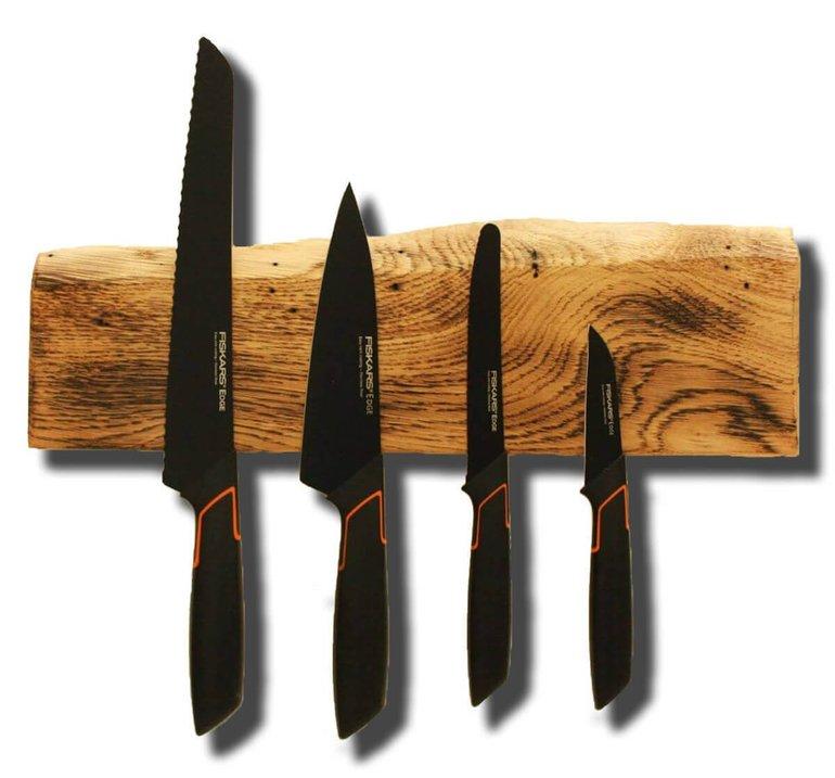 4 Fiskars Edge Messer + Magnetisches Messerbrett für 79,90€ inkl. Versand